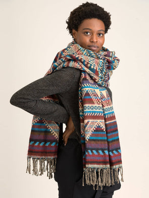 Oversized Peruvian Print Scarf - Forgotten Tribes
