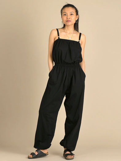 Cotton Harem High Crotch Jumpsuit with Pockets - Forgotten Tribes