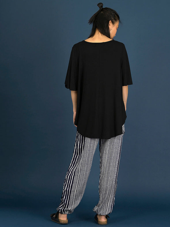 Curved Hemline T-shirt with Bell Sleeves - Forgotten Tribes