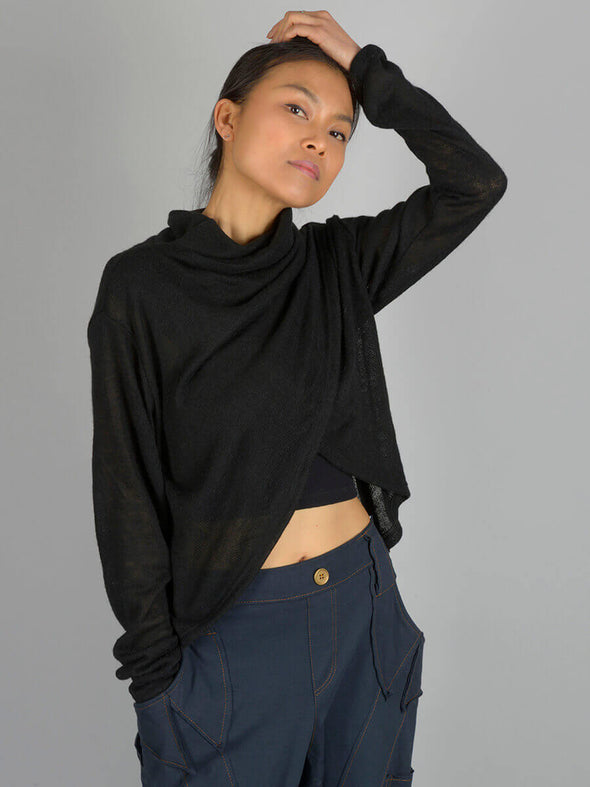 High Neck Wrap Front Top - Forgotten Tribes