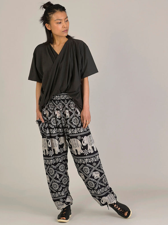 Elephant Harem Pants - High Crotch - Forgotten Tribes