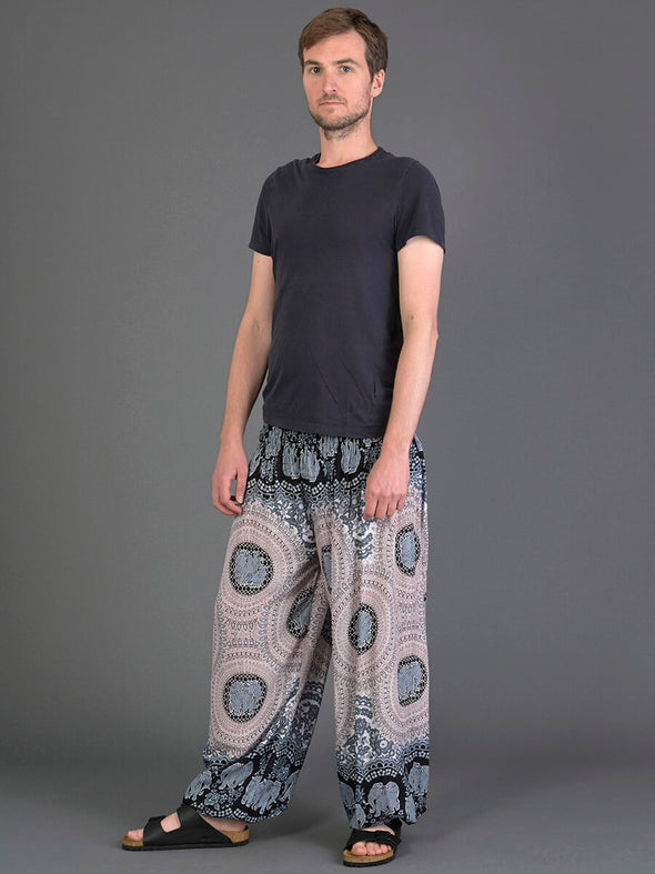 Elephant Honeycomb Harem Pants for Men - High Crotch - Forgotten Tribes