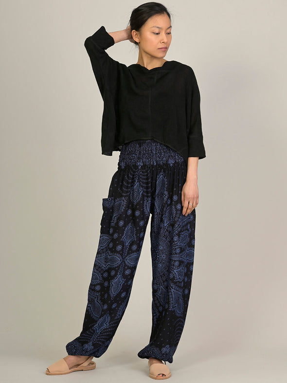 Feather Paisley Harem Pants - High Crotch - Forgotten Tribes