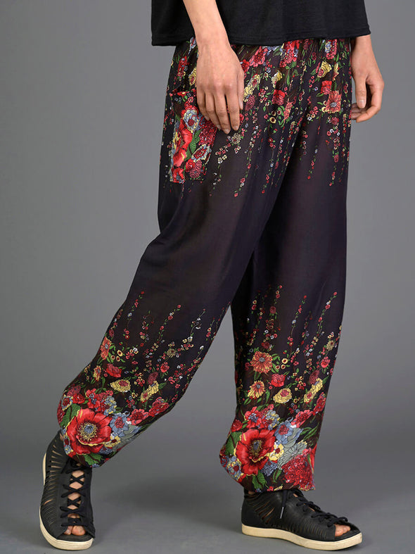 Floral Harem Pants - High Crotch - Forgotten Tribes