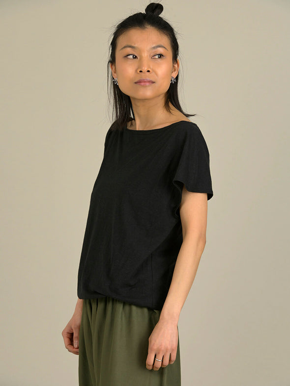 Hemp Organic Cotton Boat Neck T-shirt - Forgotten Tribes