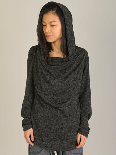 Knitted Hoodie with Side Pockets - Forgotten Tribes