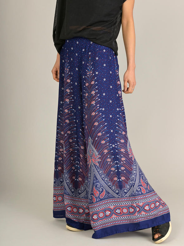 Peacock Harem Pants - Palazzo - Forgotten Tribes