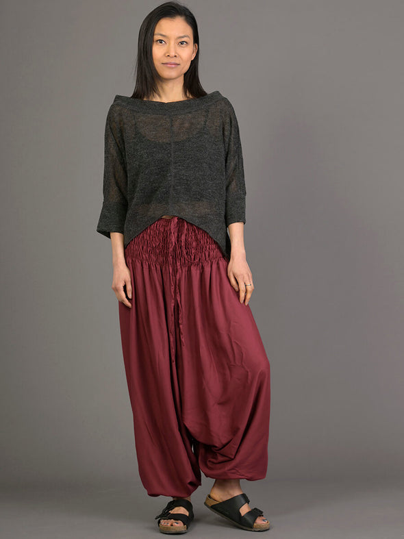 Plain Colour Harem Pants - Low Crotch - Forgotten Tribes