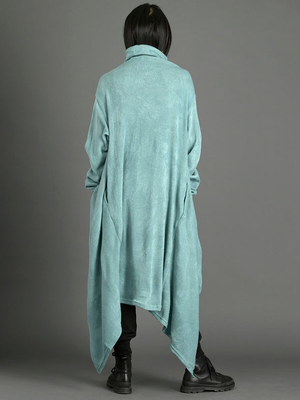 Roll Neck Cape Style Oversized Jumper - Forgotten Tribes
