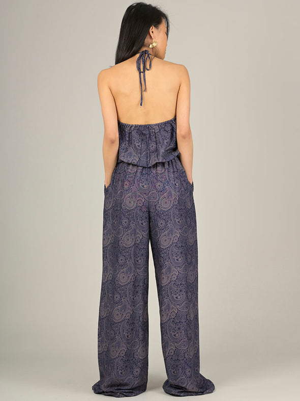 Paisley Halter Neck Jumpsuit - Forgotten Tribes