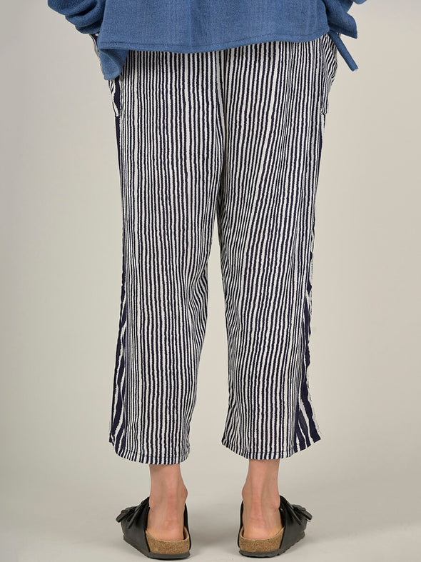 Stripe Harem Pants - Wide Leg Cropped - Forgotten Tribes