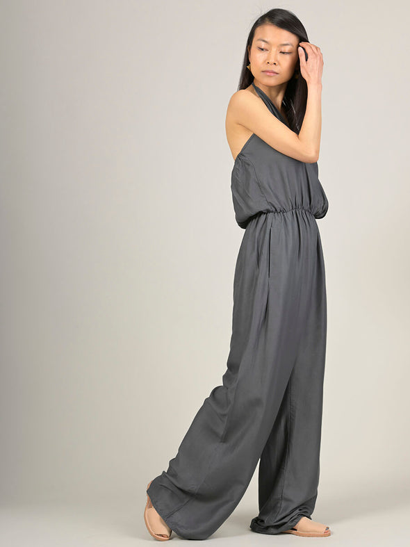 Plain Colour Halter Neck Jumpsuit - Forgotten Tribes