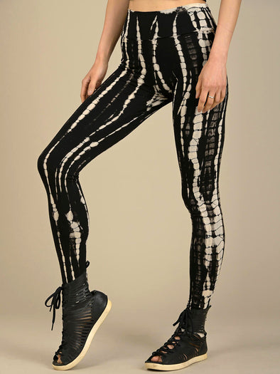 Tie Dye Leggings - Black - Style 3 - Forgotten Tribes