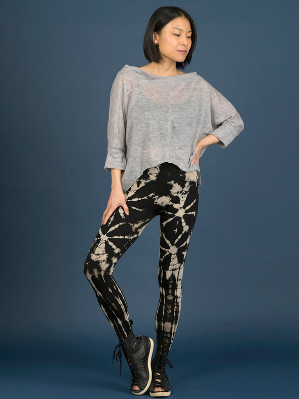 Tie Dye Leggings - Black - Style 1 - Forgotten Tribes