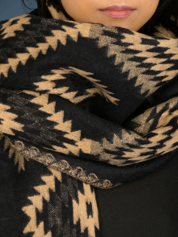 Oversized Aztec Print Scarf - Forgotten Tribes