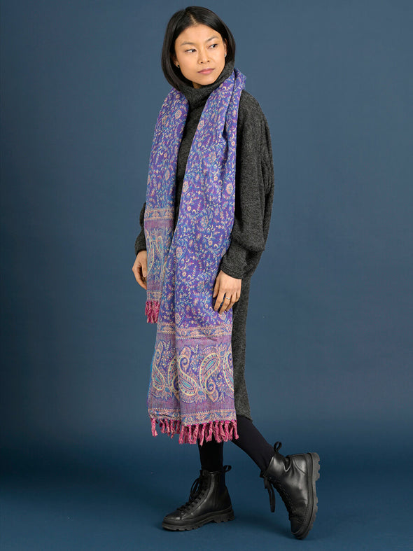 Oversized Giant Paisley Print Scarf - Forgotten Tribes