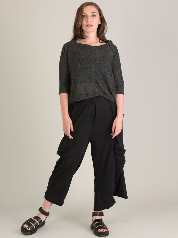 Boat Neck Cropped Top - Forgotten Tribes