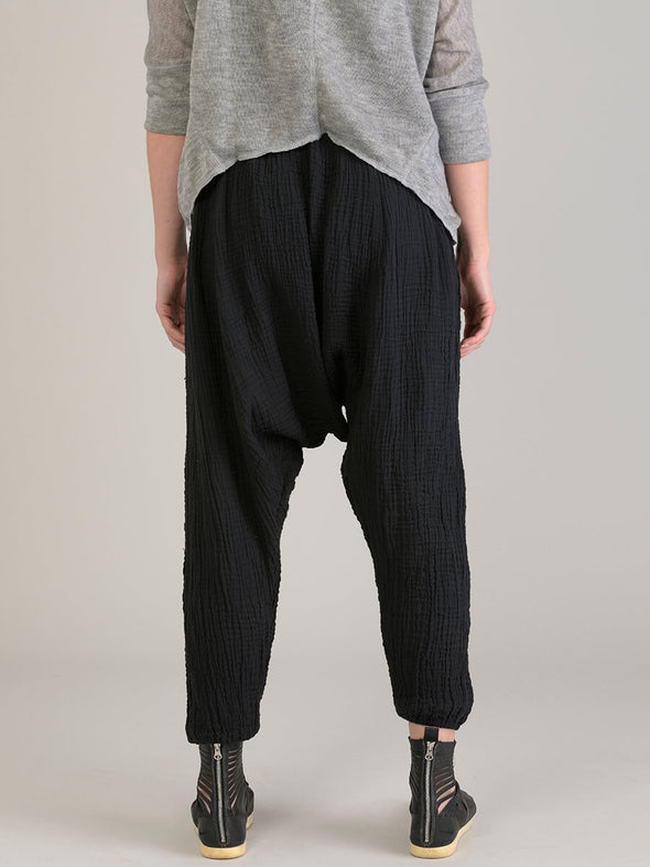 Crinkled Cotton Harem Pants - Forgotten Tribes