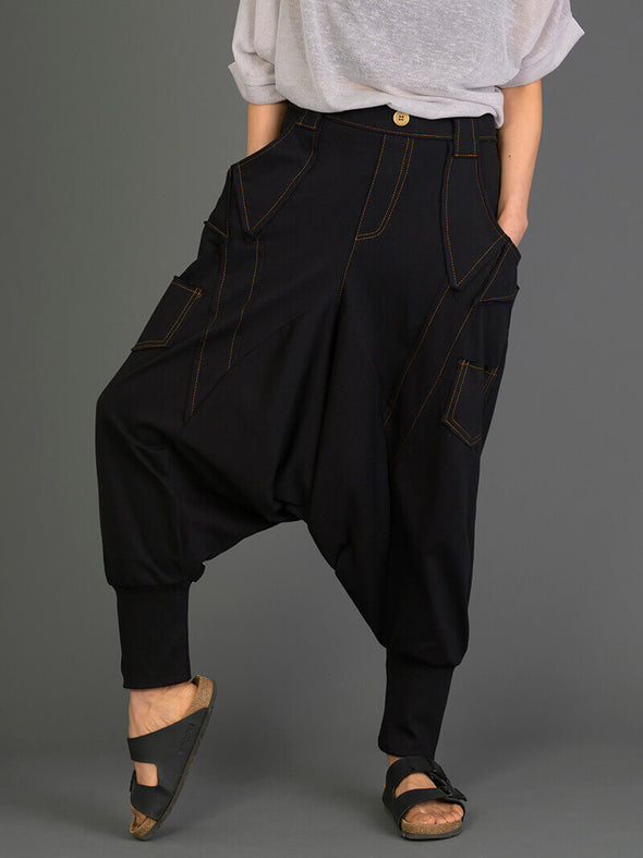 Denim Style Harem Pants - Forgotten Tribes