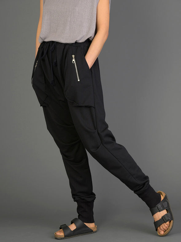Drop Crotch Jogger Pants with 3D Pockets - Forgotten Tribes
