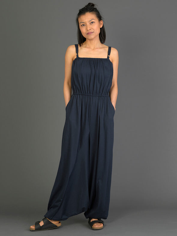 Cotton Harem Jumpsuit with Pockets - Forgotten Tribes