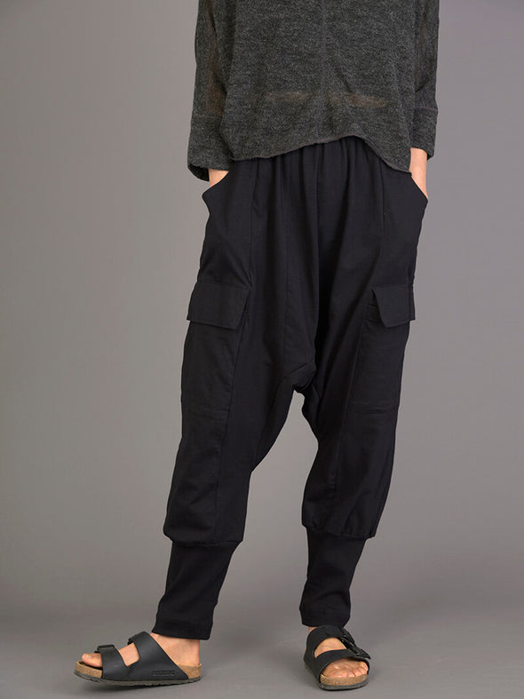 Mid Crotch Cotton Trousers with Side Pockets - Forgotten Tribes