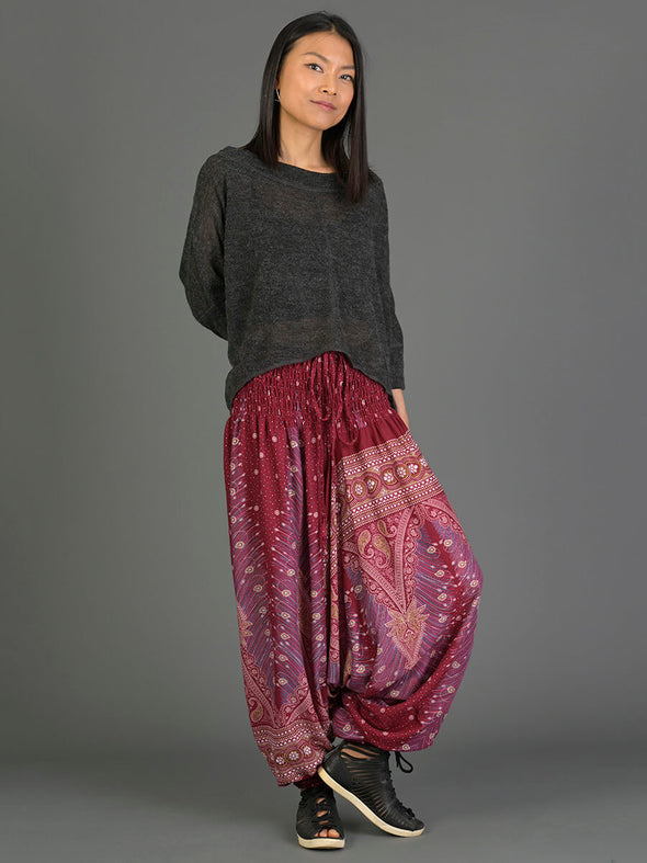 Peacock Harem Pants - Low Crotch - Forgotten Tribes