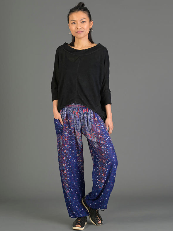 Peacock Harem Pants - High Crotch - Forgotten Tribes