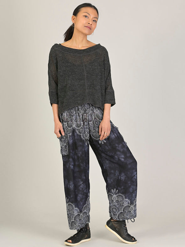 Mandala Harem Pants - Wide Leg Cropped - Forgotten Tribes