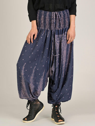 Peacock & Stars Harem Pants - Low Crotch - Forgotten Tribes