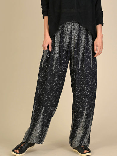 Peacock & Stars Harem Pants - High Crotch - Forgotten Tribes