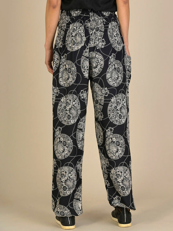 Oriental Flower Harem Pants - High Crotch - Forgotten Tribes