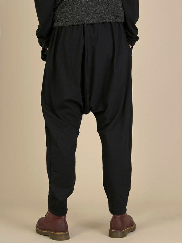 Mid Crotch Cotton Trousers with Front Pleat - Forgotten Tribes