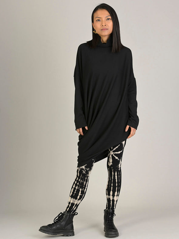 Turtle Neck Asymmetric Tunic - Forgotten Tribes