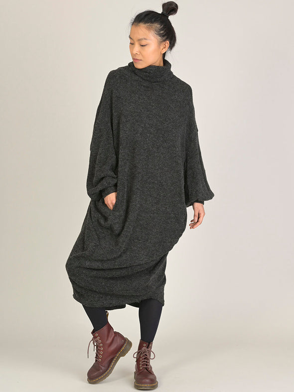 Oversized High Neck Cocoon Dress