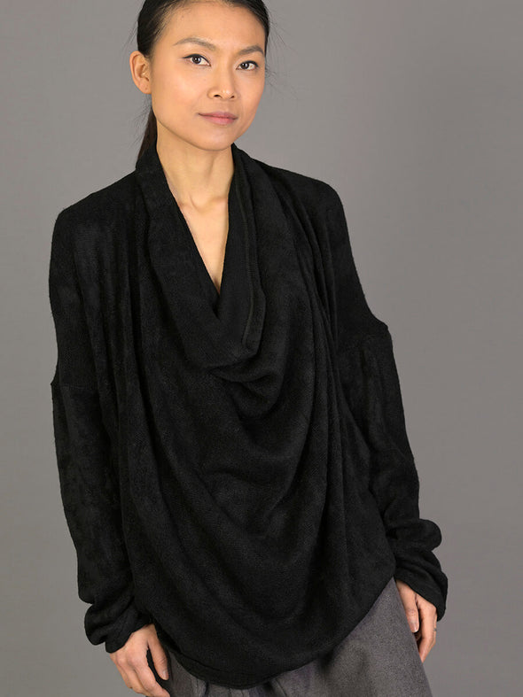 Draped Front Knitted Top