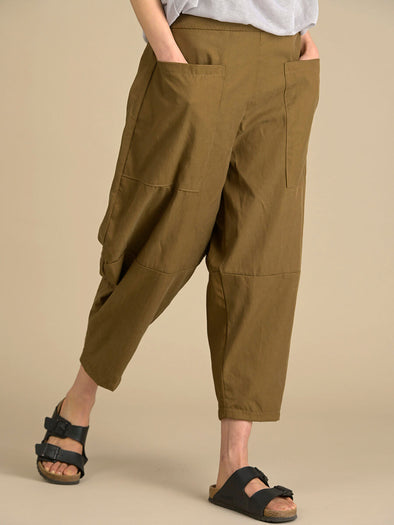 Tapered Trousers with Patch Pockets - Forgotten Tribes
