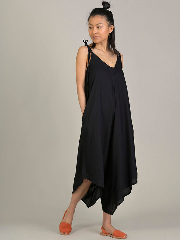 Plain Colour Tie-strap Jumpsuit - Forgotten Tribes
