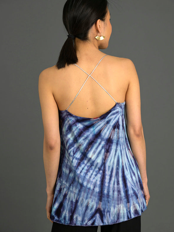 Tie Dye Cami Top with Spaghetti Strap - Forgotten Tribes