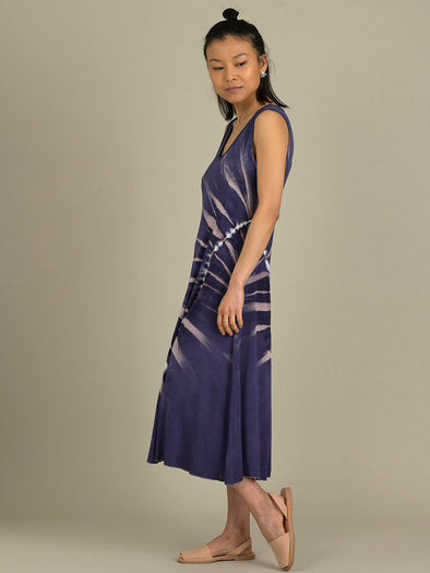 Tie Dye Sleeveless A-Line Dress - Forgotten Tribes