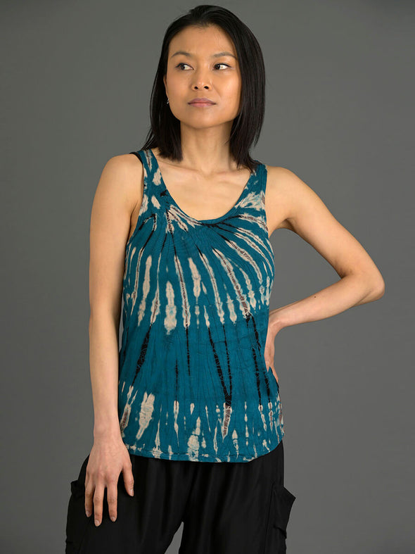 Tie Dye Stretchy Cami Top - Forgotten Tribes