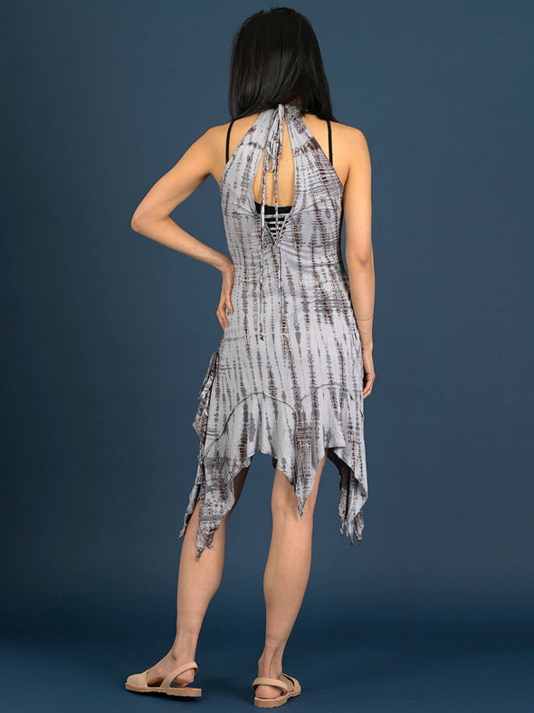 Tie Dye V-neck Handkerchief Dress - Forgotten Tribes