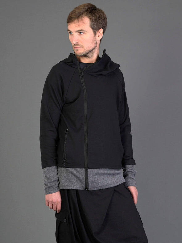 Two Tones Hoodie with Side Zip for Men - Forgotten Tribes