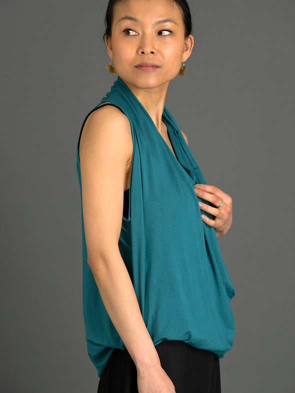 V-neck Sleeveless Wrap Top - Forgotten Tribes