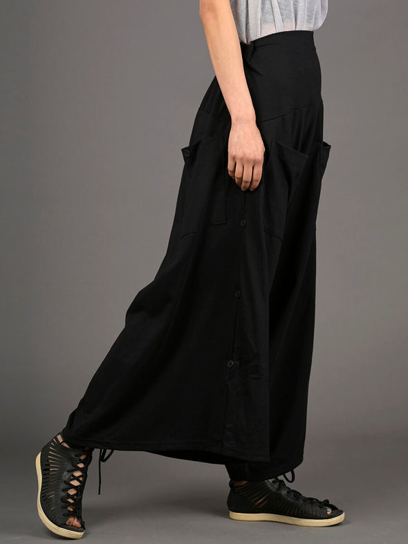 Wide Leg Cropped Cotton Trousers - Forgotten Tribes