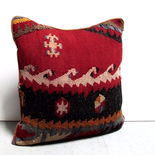 Red 17 x 17 SouthWest Wave Pillow