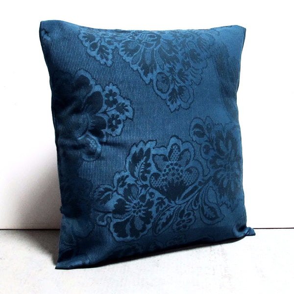 Blue 16 x 16 Floral Pillow