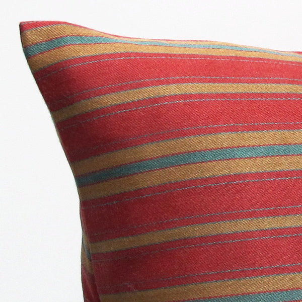 Red 17 x 17 Stripe Pillow