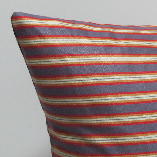 Purple & Red 16 x 16 Striped Pillow