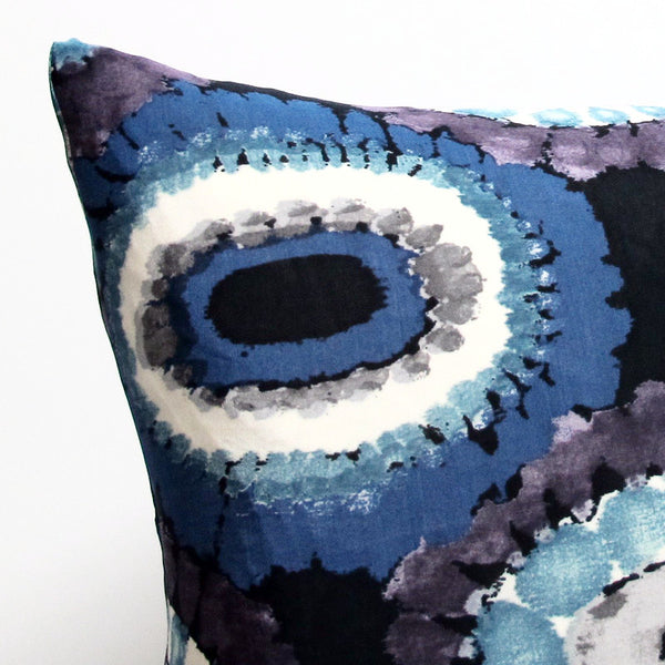 Blue 24 x 24 Medallion Pillow